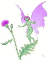 Thistle Pixie by gusdefrog