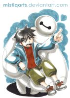 Big Hero 6 Baymax and Hiro by Mistiqarts
