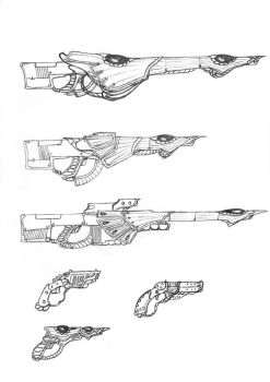 Shata'lin light infantry weapons by HidesHisFace