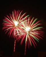 Red Green White Fireworks by white-tigress-12158