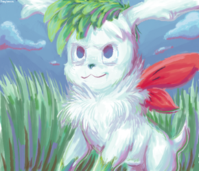 A Shaymin on MS Paint by Fragilance