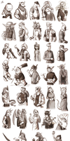 CD: Hella lot of sketches by Derekari