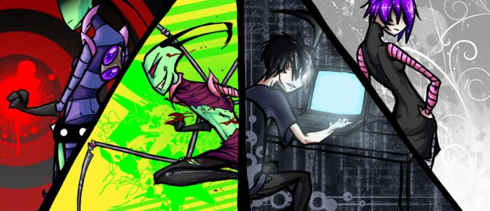 Invader Zim AT with Kay by elcabal