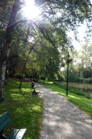 Park in Bruges by darthsabe