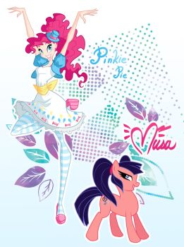 Winx and Pony. Pinkie Pie and Musa by fantazyme