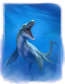 Mosasaurus by FlyQueen
