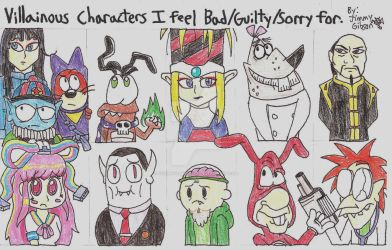 Villainous Characters I feel Bad for List by CelmationPrince