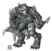 worgen rogue lineart by rusel1989