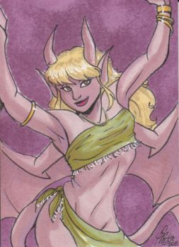 ACEO: Andrea the Gargoyle by Kanthara