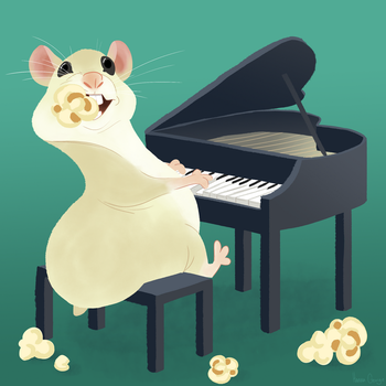 Hamster On A Piano by HannaGeorge
