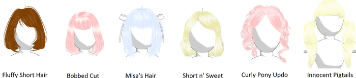Hair Pack 1 (Download in Descript.) by Kitsuna020