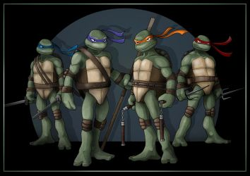 TMNT Group Shot by nightwing1975
