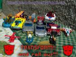 My Autobots toys by Starshot-seeker