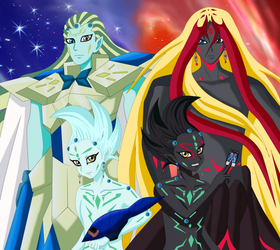 Astral, eliphas, don thousand and Black Mist by MichxGaara
