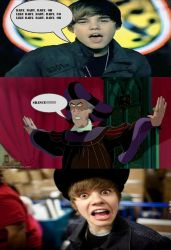 Frollo Shouts At Justin Bieber by William125