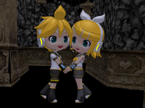 Len and Rin by rednelS