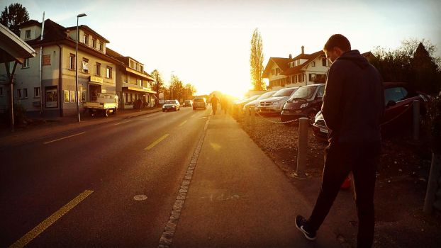 Sunset in Aarberg by RedstoneArmy