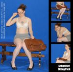 Free Preview! School Girl Sitting Pack by SenshiStock