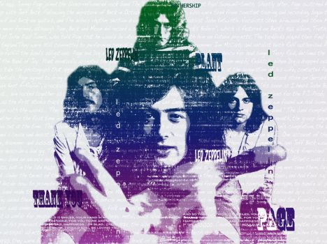 Led Zeppelin Typography by SaBi88