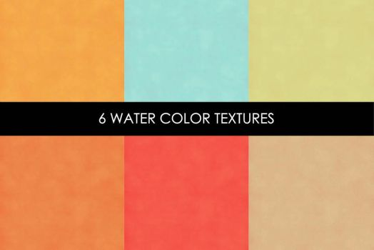 6 Free Water Color Textures by symufa
