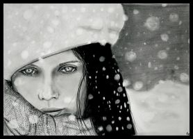 The Girl in the Snow by trixxx