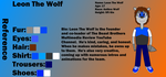 Leon the Wolf Reference Sheet by LevelInfinitum