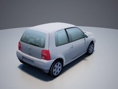 VW Lupo low-poly rear by RaMoNVicious
