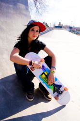 Skater Chick by TheBigNewDeal