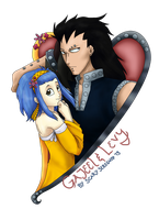 Gajeel and Levy by ScarySeregwen