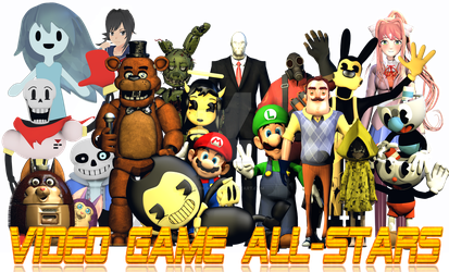 The Complete Cast Of Video Game All-Stars by StarkKidd