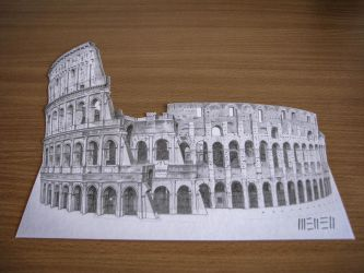 Colosseo 3D drawing by dominikmellen