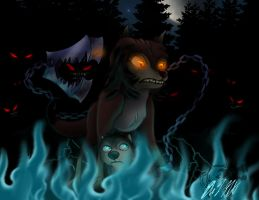 The Escape of the Shadow Pack by Mitsi1991