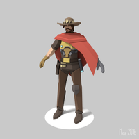 McCree Overwatch [Lowpoly] by Mezaka
