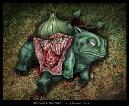 bulbasaur anatomy DEVIANT by AlessandroConti