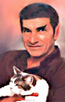 Sarek and cat by karracaz