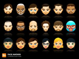 Face Avatars by deleket