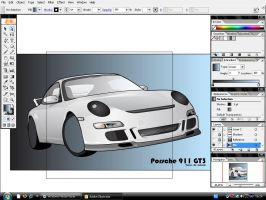 Porsche,In Progress 'Part2' by lakoubi