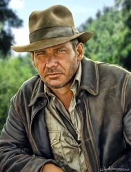 Indiana Jones - Harrison Ford by MaxHitman