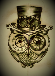 SteamPunk Owl (2) by ToorcFist