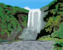 waterfall by ObsidianWolf7