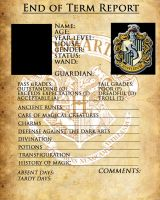 HufflePuff Report Card by sarahsaintly
