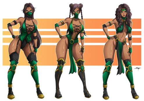 Jade (MK) _Costumes _ Commission by Sano-BR