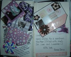 1st Altered Book 13, Favorites by angelstar22