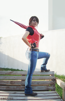 Claire Redfield cosplay by CodeClaire