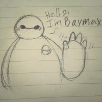 Baymax doodle by Tsuenica