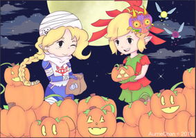 Zelda Halloween by AurrieChan