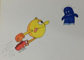 INKTOBER: Day 4 - Pac-Man by NM-Kuhn