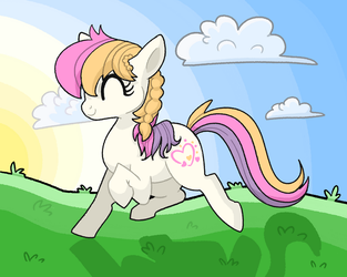 Light Heart Frolicking by RainbowHeartUnicorn