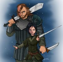 The Wolf and the Hound GOT commission by JazylH