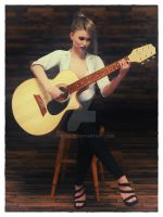 Playing Guitar! by Edheldil3D